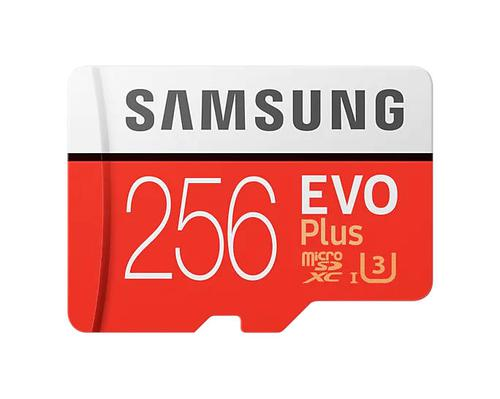 Samsung 256GB EVO Plus Memory Card UHSI Class 10 MicroSDXC Plus Adapter