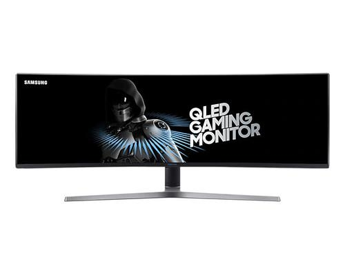 Samsung C49HG90 49 Inch Ultra Wide 3840 x 1080 Resolution Curved 144Hz Refresh Rate 1ms Response Time HDMI DP LED Monitor