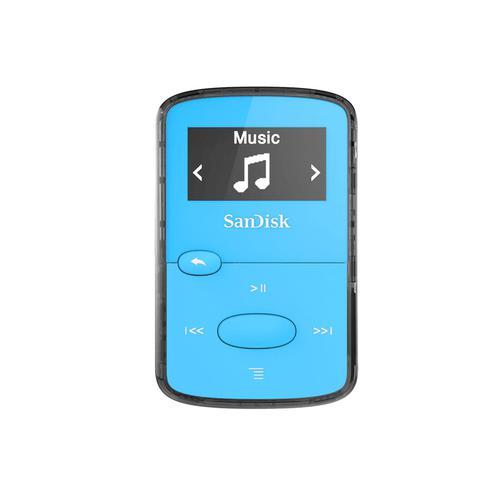 SanDisk Clip Jam 8GB MP3 Player Blue SDMX26-008G-E46B
