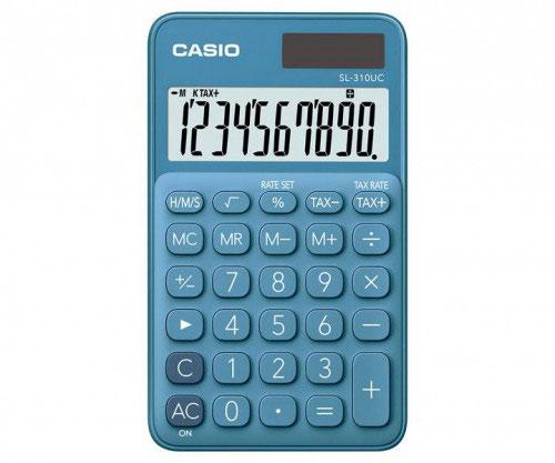 Casio SL-310 Pocket Calculator Blue SL-310UC-BU-W-EC
