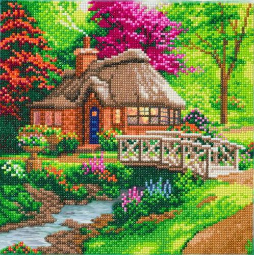 Crystal Art Friendship Cottage 30 x 30cm Kit CAK-TK2M