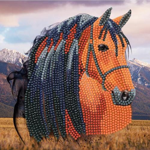 Crystal Art Horse 18 x 18cm Card CCK-A70