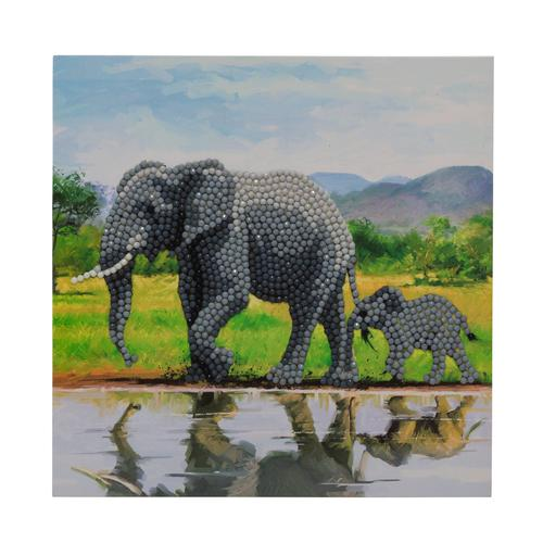 Crystal Art Elephant 18 x 18cm Card CCK-A51