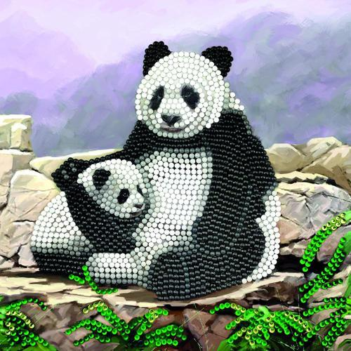 Crystal Art Panda 18 x 18cm Card CCK-A44