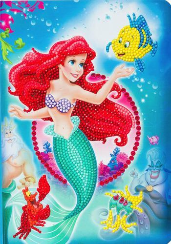 Crystal Art The Little Mermaid Notebook CANJ-DNY601
