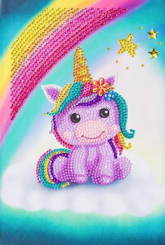 Crystal Art Unicorn Smile Notebook CANJ-3