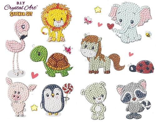 Crystal Art Animal Antics 21 x 27cm Sticker Set CAMK-2020SET5