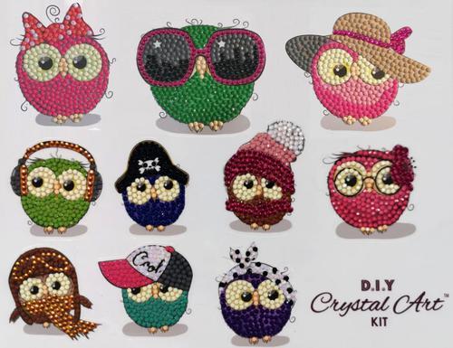 Crystal Art Owl Life 21 x 27cm Sticker Set CAMK-2020SET2
