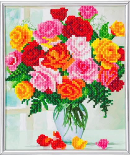 Crystal Art Flowers 21 x 25cm Picture Frame Kit CAM-24