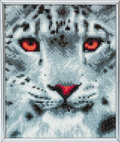 Crystal Art Snow Leopard 21 x 25cm Picture Frame Kit CAM-15