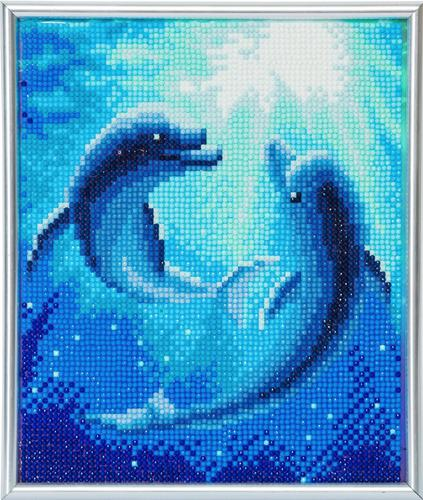 Crystal Art Dolphin Dance 21 x 25cm Picture Frame Kit CAM-12