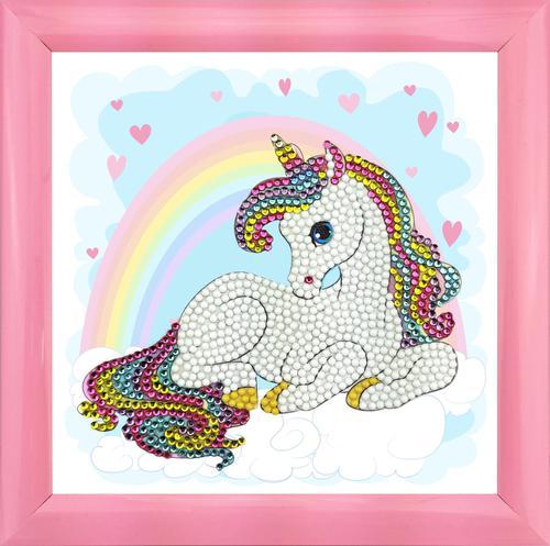 Crystal Art Unicorn Rainbow 16 x 16cm Frameable Kit CAFBL-4