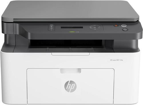 HP 135a Laser Multifunction Mono Printer Print Copy Scan 1200 x 1200 DPI Print Resolution Manual Duplex Print 150 Sheets Input