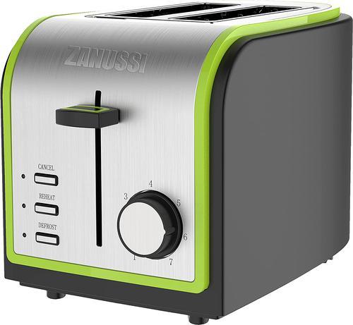 Zanussi ZST6579GN Stainless Steel 2 Slice Toaster 800W Green