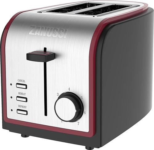 Zanussi ZST6579RD Stainless Steel 2 Slice Toaster 800W Red
