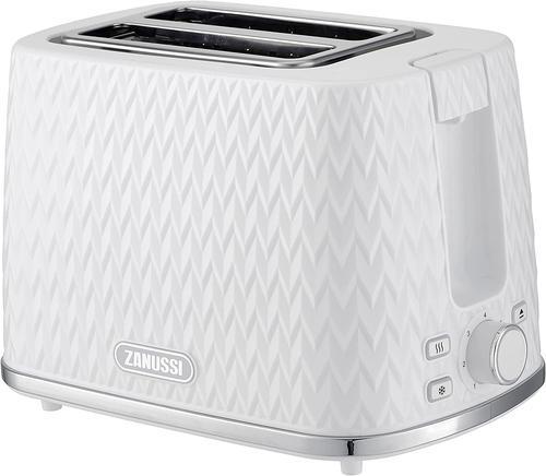 Zanussi ZST6550WT White 2 Slice Toaster 930w