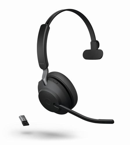 Jabra Evolve 2 65 UC Bluetooth 5.0 USB A Noise Isolating On Ear Mono Headset DSP Function Boom Microphone