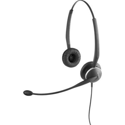 Jabra GN2100 Duo Flex Wired Active Noise Cancelling Binaural Headset Boom Microphone
