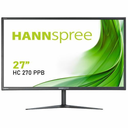 Hannspree HC270PPB 27 Inch 1920 x 1080 Full HD Resolution VGA HDMI DisplayPort LED Curved Monitor