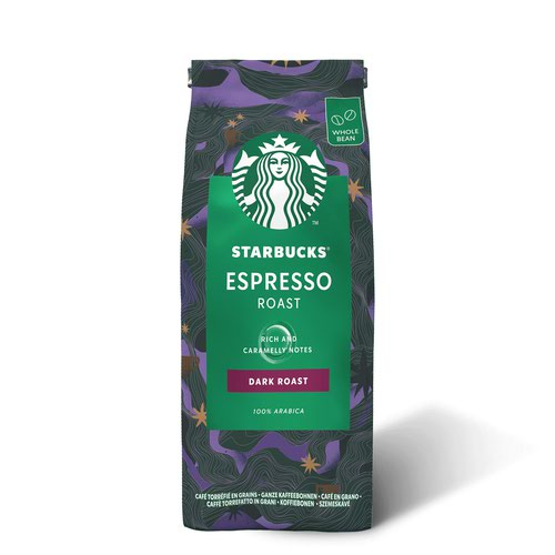 STARBUCKS DARK Espresso Roast Whole Coffee Bean (Pack 200g) 12400227