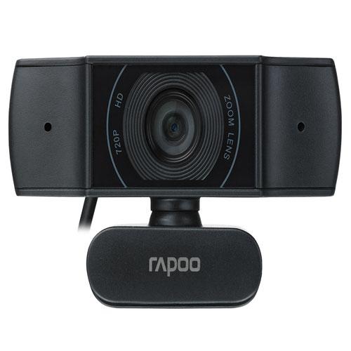 Rapoo XW170 720p USB 2.0 Webcam 1280 x 720 Pixels Resolution 80 Degree Wide Angle View Autofocus Noise Cancellation
