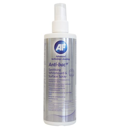 AF Antibacterial Sanitising Whiteboard and Surface Spray 250ml ABWMSC250
