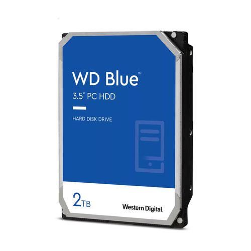 Western Digital Blue 2TB 7200 RPM SATA 6Gbs 256MB Cache 3.5 Inch Internal Hard Drive