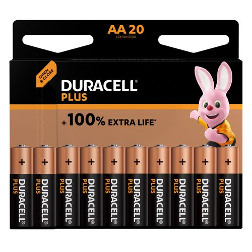 Duracell Plus Power AA Alkaline Battery (Pack 20) MN1500B20PLUS