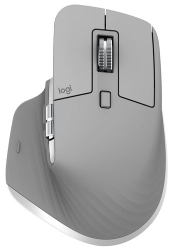 Logitech MX Master 3 Advanced RF Wireless Plus Bluetooth Laser 4000 DPI Mouse Grey