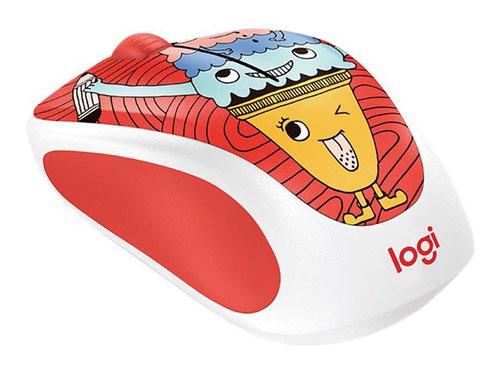 Logitech M238 Triple Scoop Doodle Collection RF Wireless Optical Ambidextrous 1000 DPI Mouse