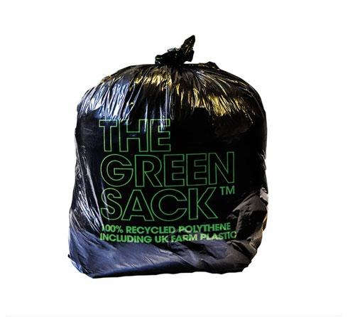 The Green Sack Heavy Duty Refuse Sack  70 Litre Black Roll 10 Sacks 0703124