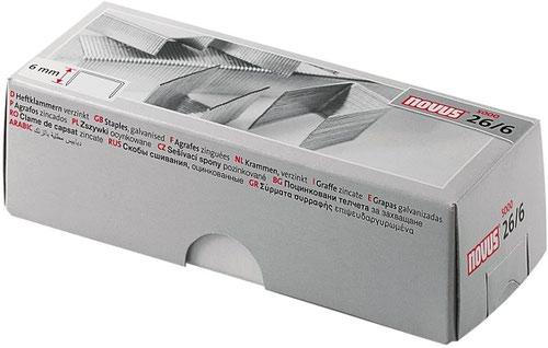Novus 26 6mm Galvanised Staples Pack 5000