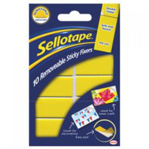 Sellotape Removable Sticky Fixers Pack of 10 20x40mm