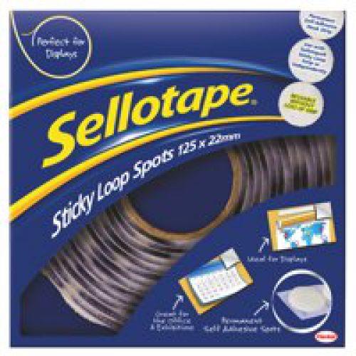 Sellotape Sticky Loop Spots 22mm White 1445181 (125 Spots)