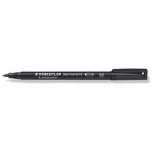 Staedtler Lumocolor OHP Pen Permanent Medium 0.8mm Black (Pack 10)