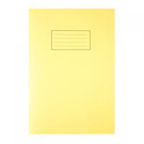 Silvine A4 Exercise Book Ruled Yellow PK10
