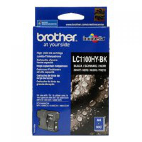 Brother LC1100HYBK Black Ink 19ml