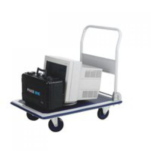 Folding Flatbed Trolleys Capacity 300Kg Open H870xW608xD907mm Folded H285mm Wheels/Castors Ø125mm