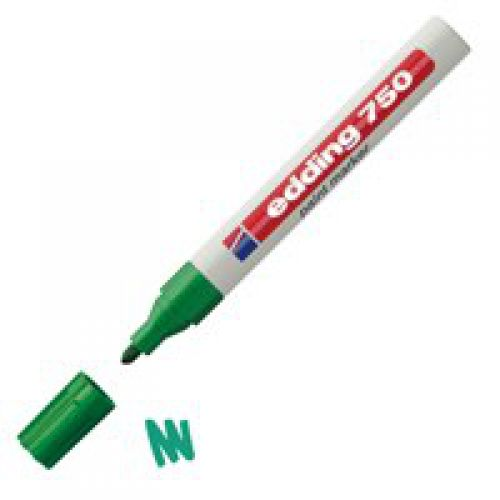 Edding 750 Paint Marker Bullet Tip 2-4mm Green PK10
