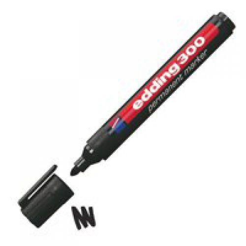 Edding 300 Permanent Marker Bullet 1.5-3mm Black PK10
