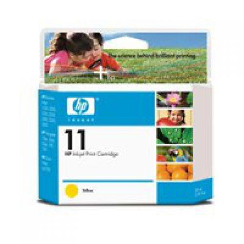 HP 11 Yellow Standard Capacity Ink Cartridge 20ml C4838A
