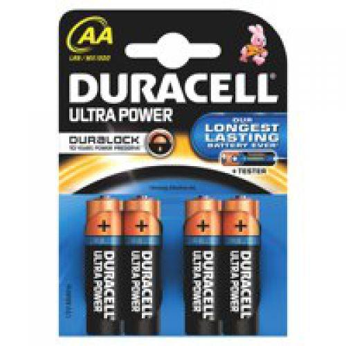 Duracell Ultra Power Alkaline Battery 1.5V AA MX1500 [Pack 4]