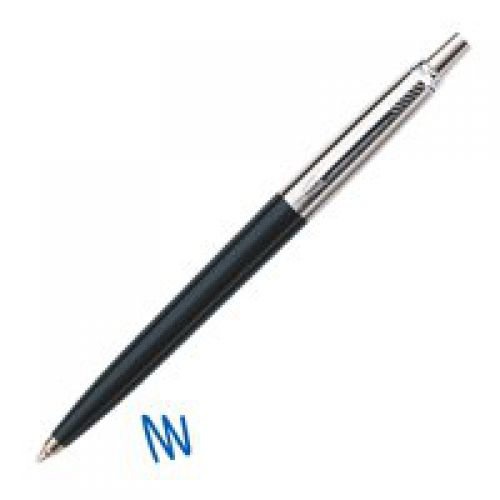 Parker Jotter Ballpoint Pen Black/Chrome Barrel Blue Ink