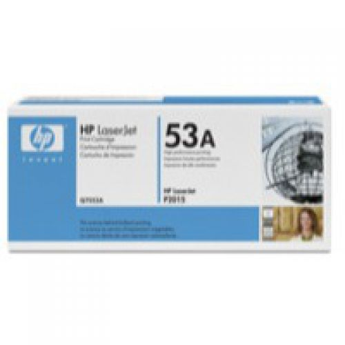 HP 53A Black Standard Capacity Toner 3K pages for HP LaserJet P2014/P2015/M2727MFP - Q7553A