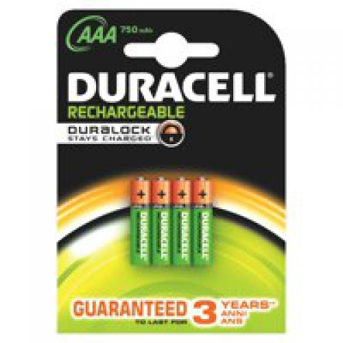 Duracell Plus Power AAA Rechargeable Batteries PK4