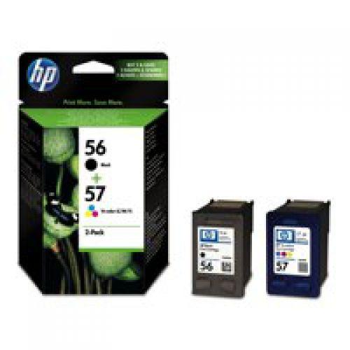 HP 56/ 57 Black Standard Capacity Tricolour Ink Cartridge 19ml 17ml Twinpack - SA342AE