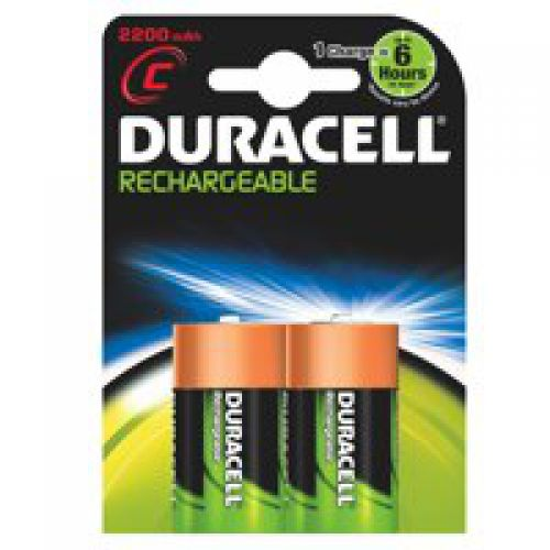 Duracell Rechargeable C Batteries Pack 2