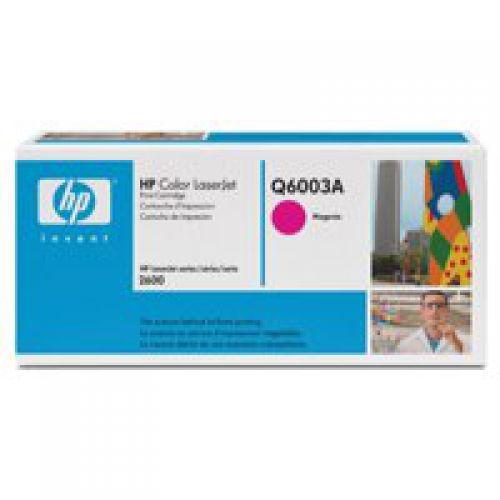 HP 124A Magenta Standard Capacity Toner Cartridge 2K pages for HP Color LaserJet 1600/2600/2605/CM1015/CM1017 - Q6003A