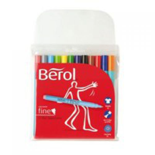 Berol Colourfine Marker Assorted Pack of 12 3P