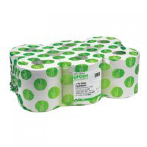 ValueX 2ply Centre Feed Roll 150m White (Pack 6)